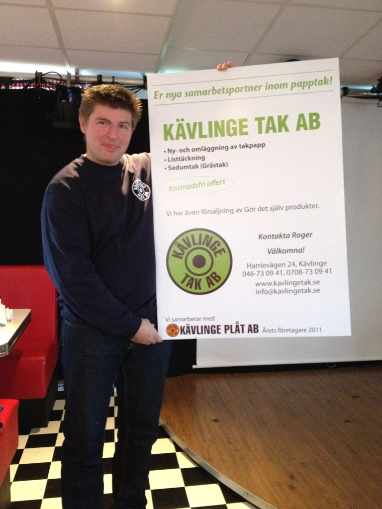 Roger Andersson, Kävlinge Plåt och Tak, Årets Företagare 2011