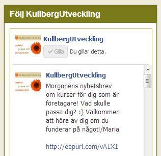 Facebook Like Box för KullbergUtveckling