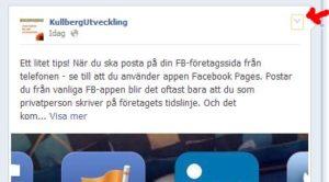 Bädda in inlägg från Facebook på din hemsida - steg 1