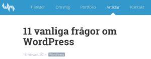 Webbmekanikern 11 vanliga frågor om WordPress