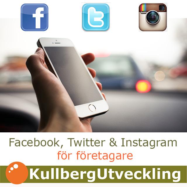 Facebook Twitter Instagram för företagare