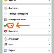 Facebook i mobilen - stäng av ljudet. Steg 2.