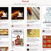 Pinterest startsidan