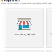 Skapa en sida på facebook